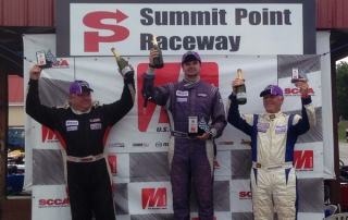 Podium at Summit Point Raceway | SCCA Majors East