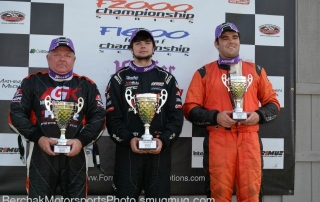 Conner and Gaston Kearby | Mid-Ohio podium | Atlantic Championship Series